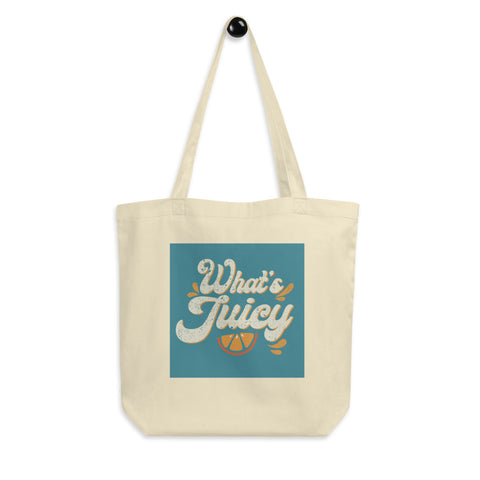 What's Juicy Eco Tote Bag - Blue