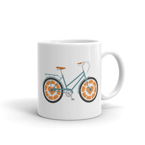 Orange Bicycle Mug