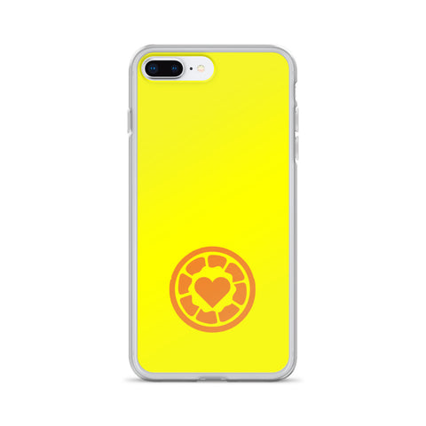 Yellow Orange Heart - iPhone Case