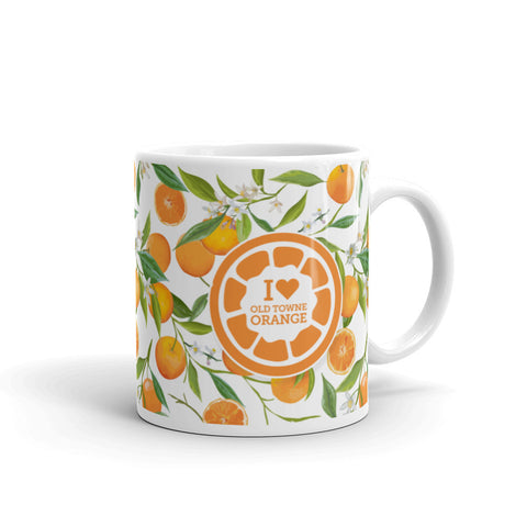 White Citrus Mug, Old Towne Orange