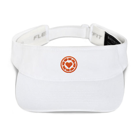 I Heart - Orange Logo - Embroidered Visor