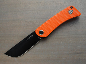 Tikuna - Orange knife with black blade