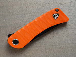 Orange handle pocket knife
