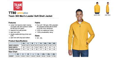 Men's Soft Shell Jacket - Sport Ath Gold