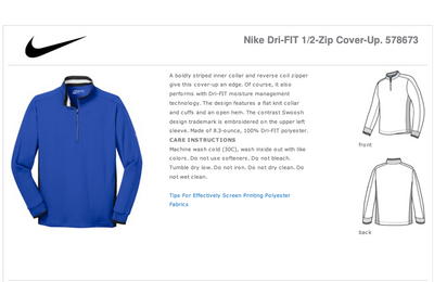 Nike Dri-FIT 1/2-Zip Cover-Up