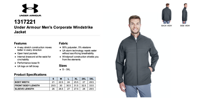 NEW Under Armour Men's Corporate Windstrike Jacket