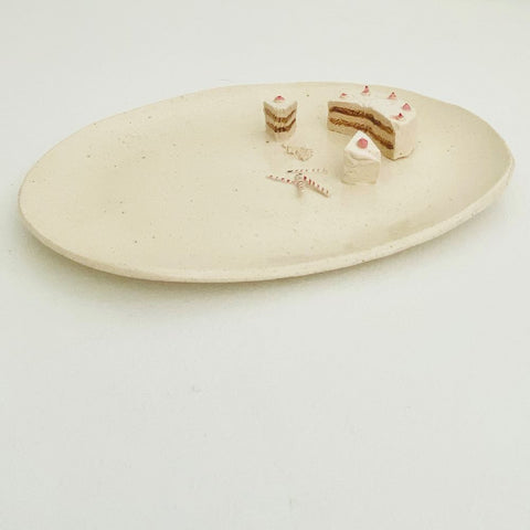 Ceramic Cake Slices Plate