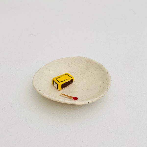 Small Ceramic Matches Dish