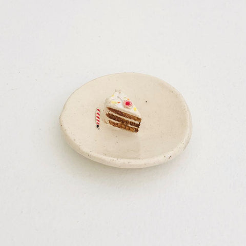 Small Ceramic Cake Slice Dish