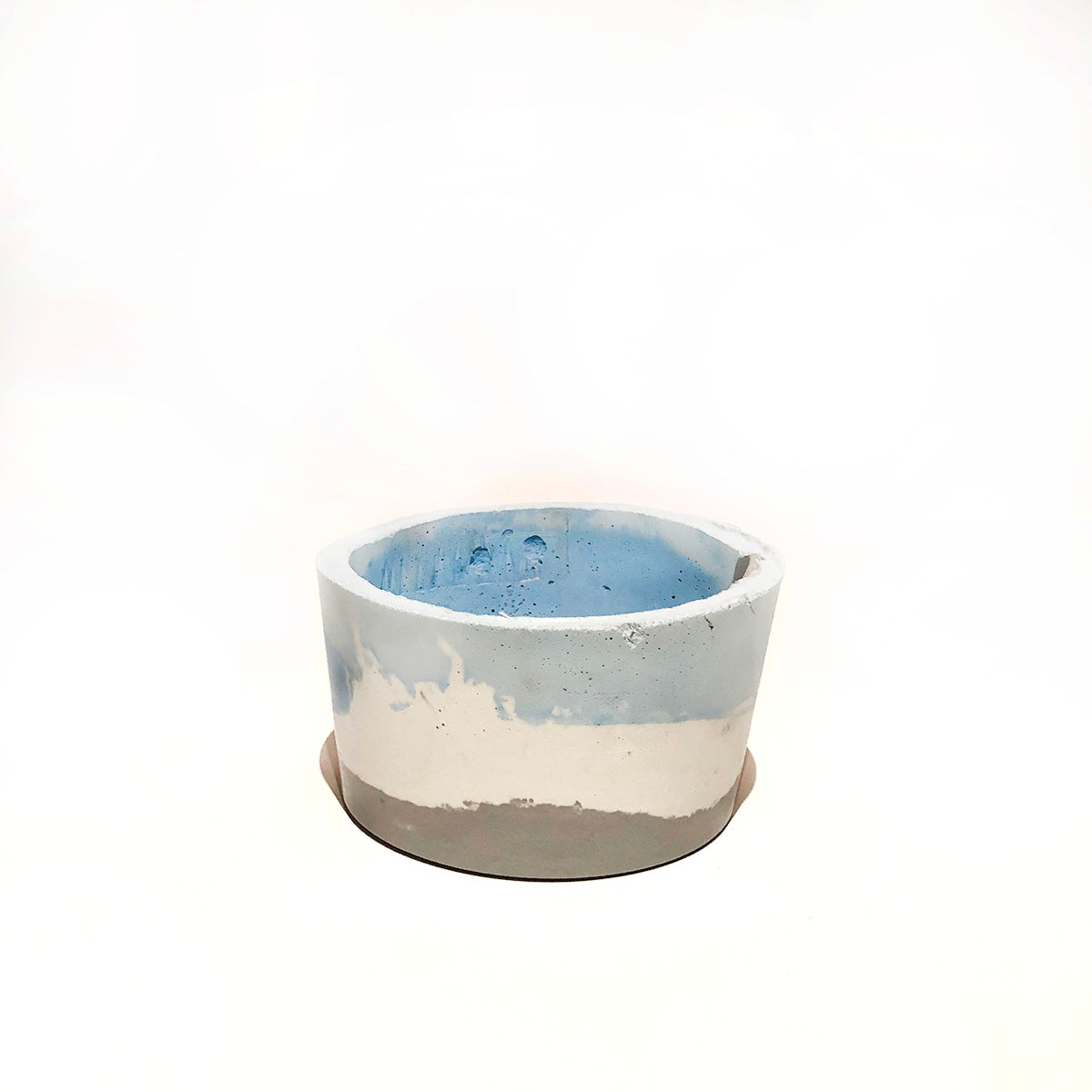 Blue and White Concrete Bowl
