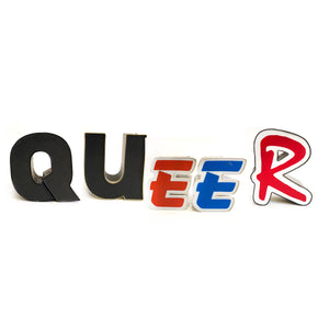 Queer Vintage Sign Letters