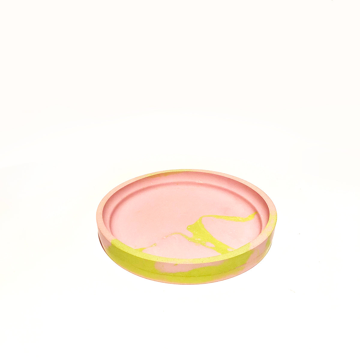 Pink and Lime Marbled Tray