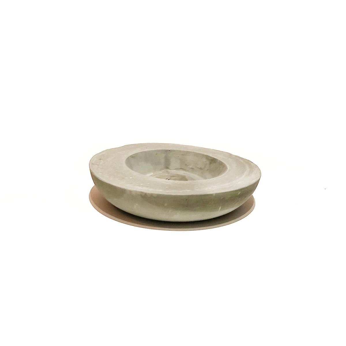 Concrete Rough Edge Low Bowl