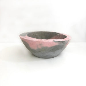 Pink Wash Concrete Rough Edge Bowl