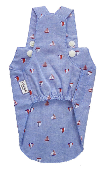 Boy Overall Boat Chambray - Denim blue