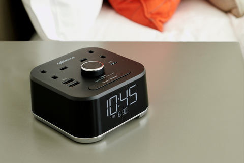 The CubieTime - one of Brandstand's range of hotel alarm clocks
