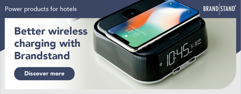 Better wireless charging with Brandstand power and charging products.