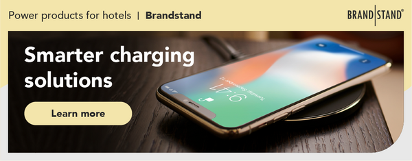 Smarter charging solutions for hotels with Brandstand power products