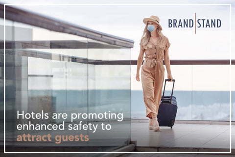 Hotels are promoting enhanced safety to attract guests.