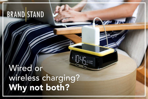 Wired charging or wireless charging? Brandstand gives you both with the CubieTrio.