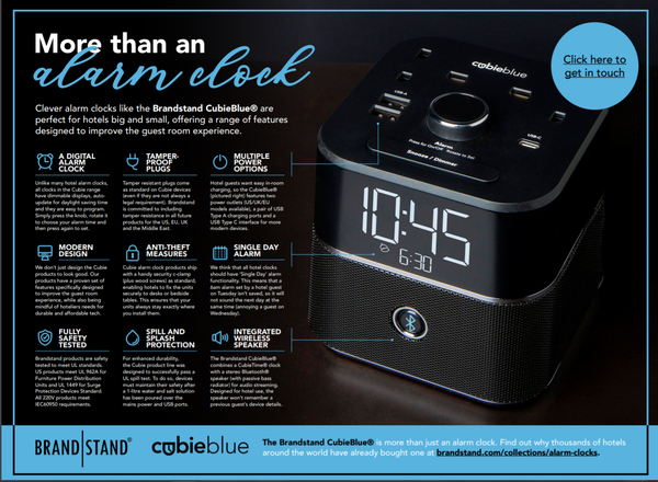 Infographic - More than just an alarm clock by Brandstand