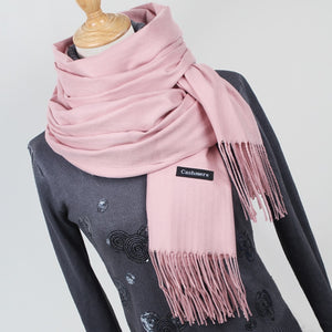 Women solid cashmere scarves