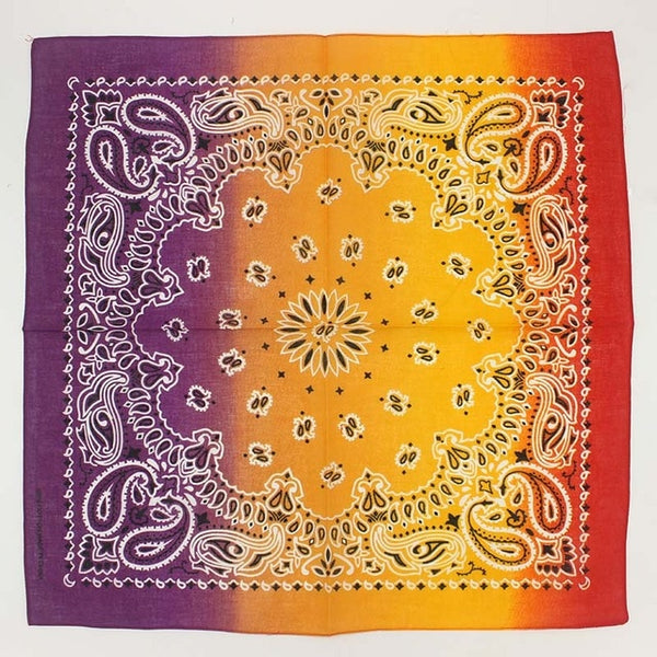 100% Cotton Bandana Square Scarf