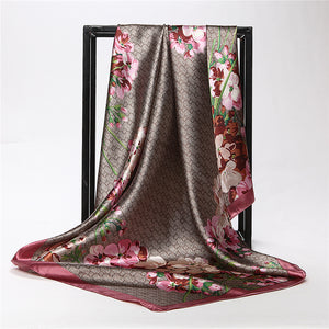 Fashion Flower Large Square Scarves