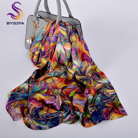 Pure Silk Scarf Shawl Women