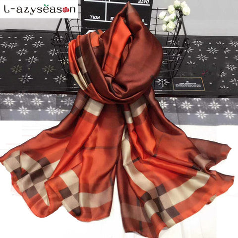 Plaid Silk Shawl