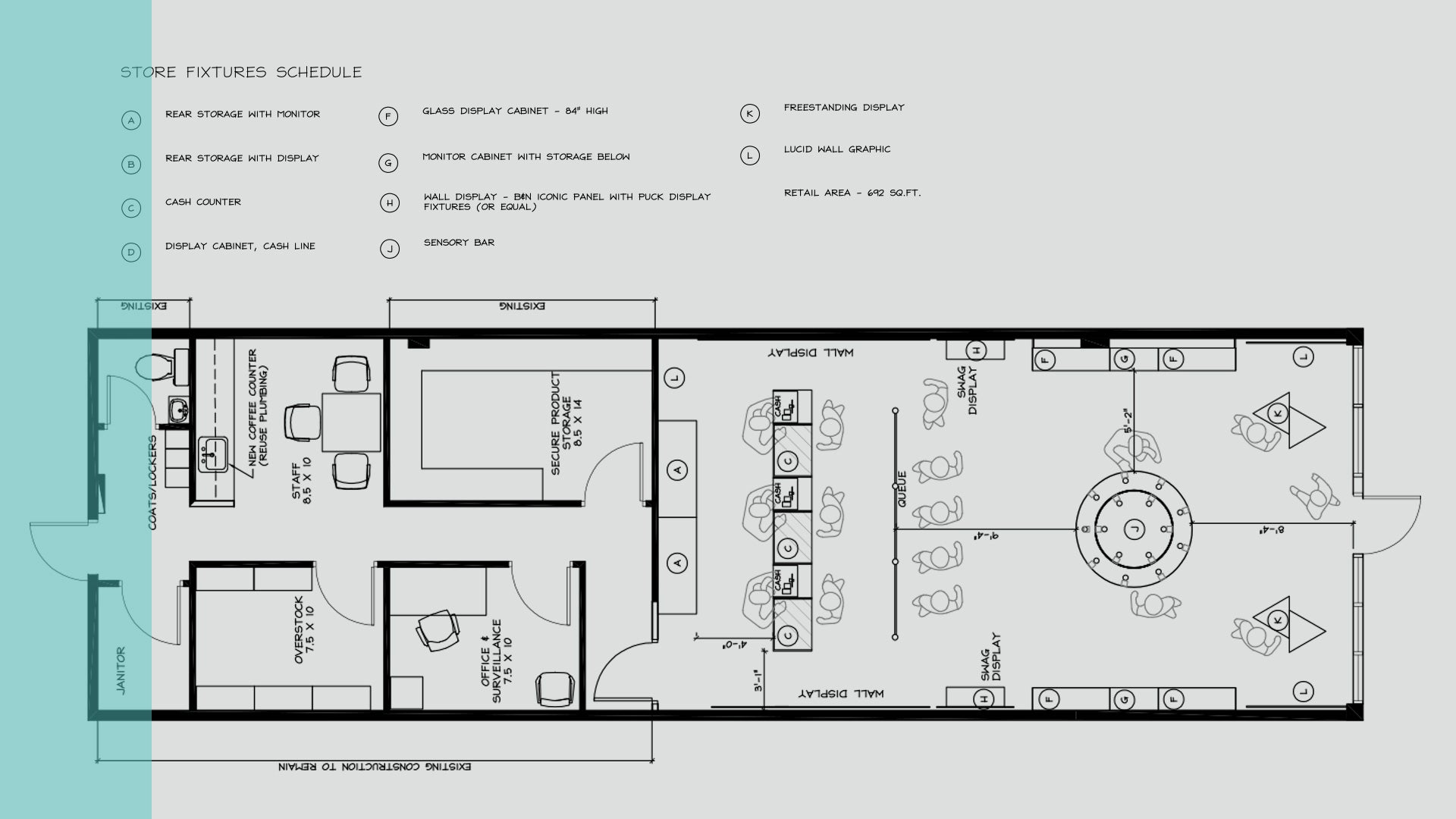 Interior drawing plan
