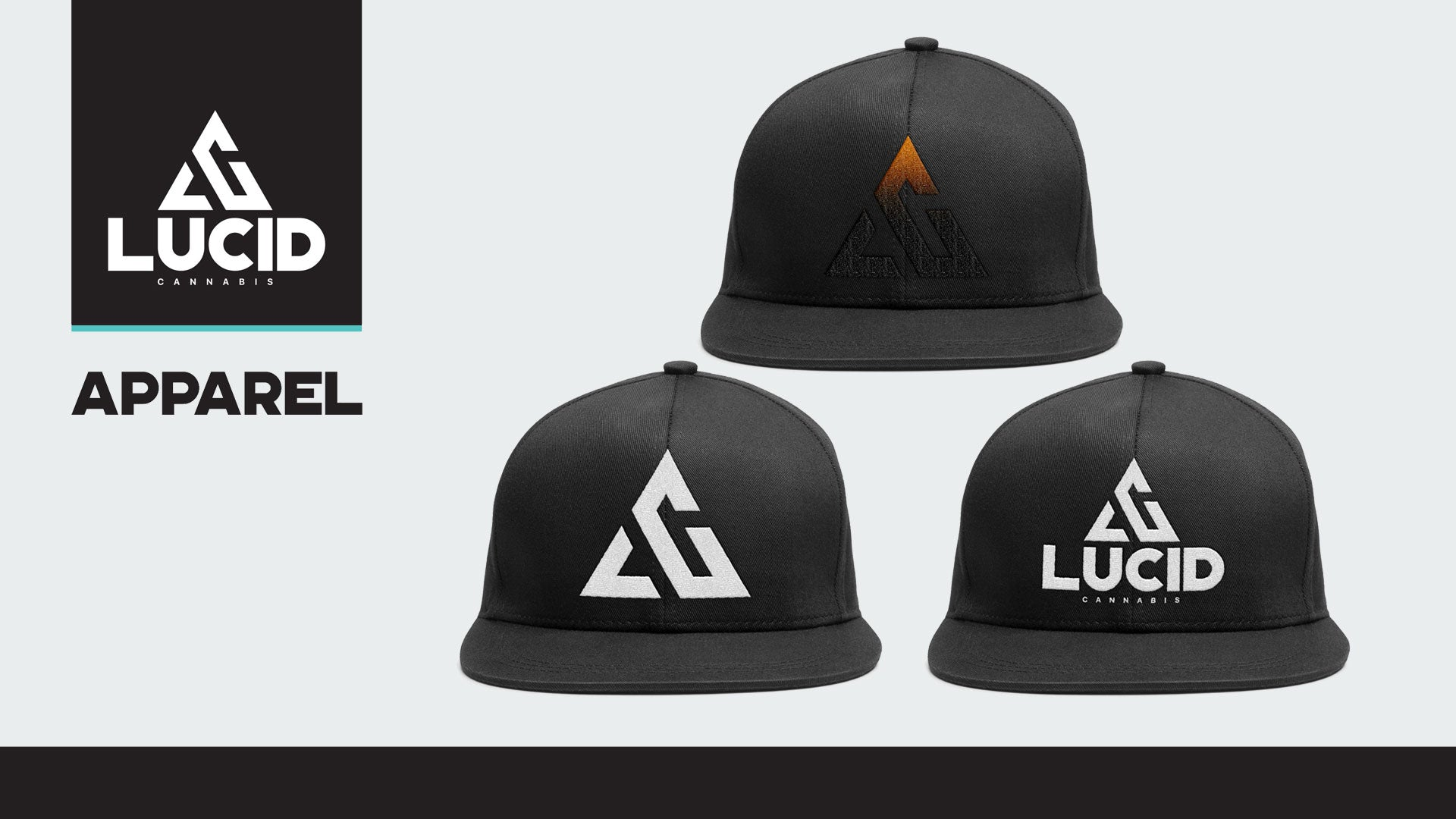 Selection of hats in our apparel lineup