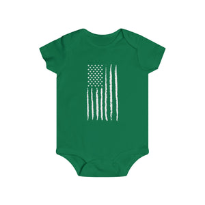 Grunge Flag Infant Rip Snap Tee