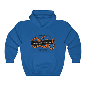 Don't Tread Orange Snake Lightweight Hoodie