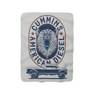 Bear American Diesel Sherpa Fleece Blanket