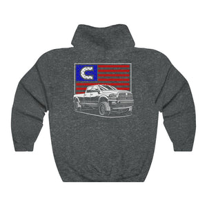 C Truck Flag Lightweight Hoodie Double Sided