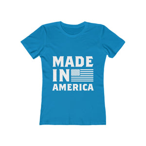 Made In America Flag Women's The Boyfriend Tee