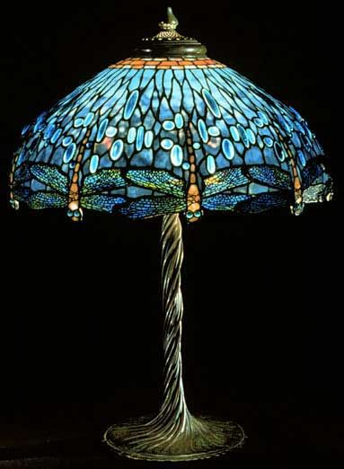 Louis Comfort Tiffany Art Nouveau Lamp