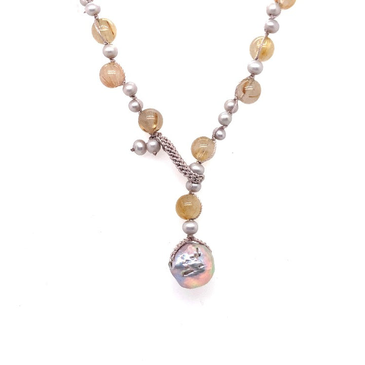 """Sea Grass"" Pearl Necklace"