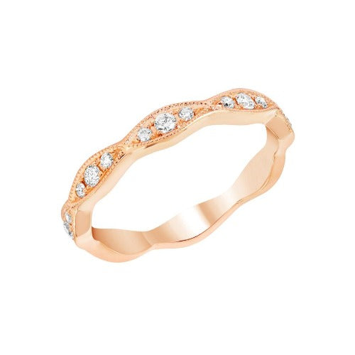 Rose Gold Marquise Motif Diamond Band