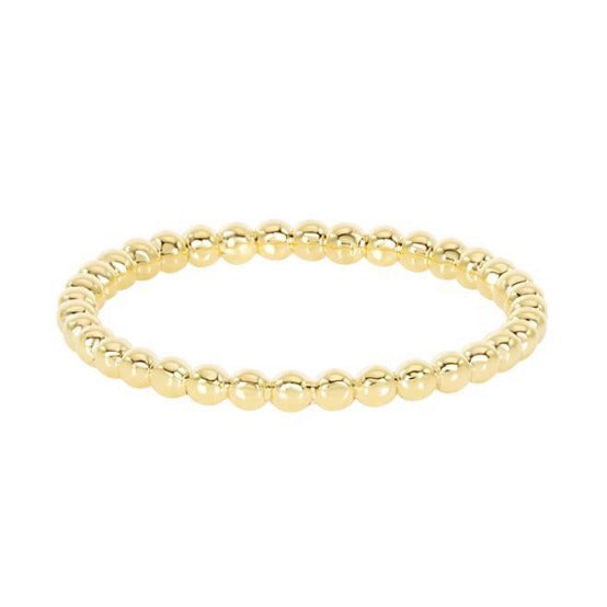 Dainty Beaded Gold Band