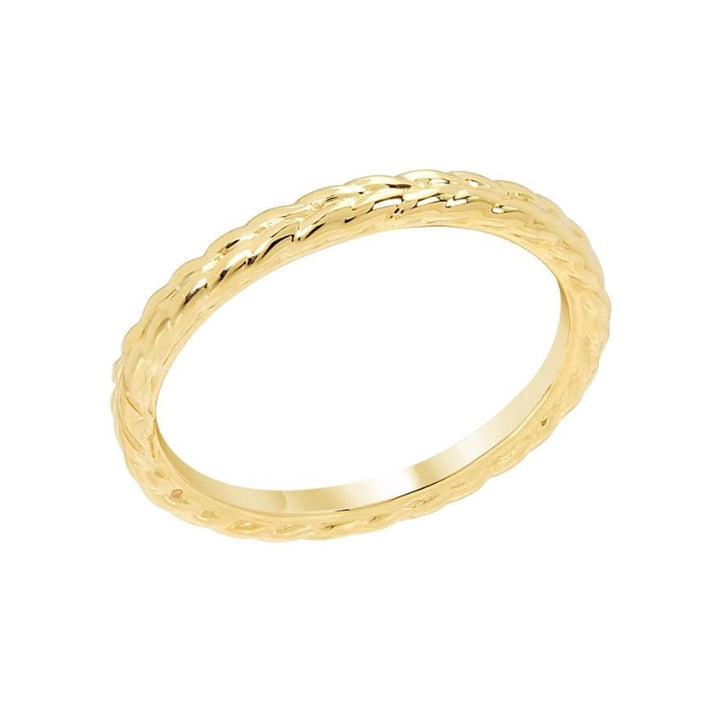 Yellow Gold Thin Woven Band