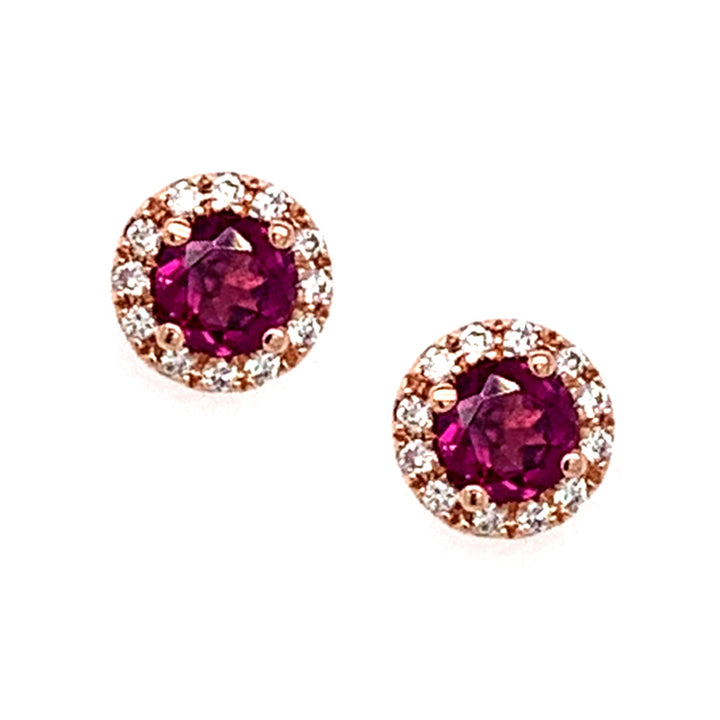 """Le Vi En Rose"" Garnet & Diamond Earrings"