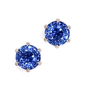"""Big Blue"" Montana Sapphire Stud Earrings"