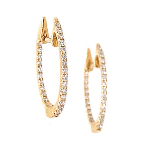 """In & Out"" Diamond Huggie Hoops"