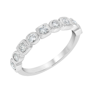 Square and Round Shape Diamond Band
