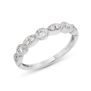Large Marquise Motif and Round Shaped Diamond Band
