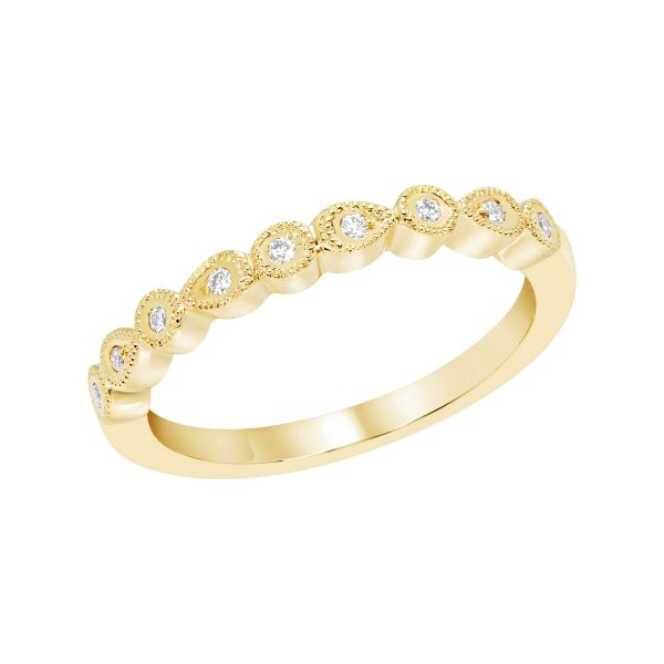 Pear and Round Shape Diamond Band