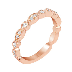 Delicate Marquise and Round Shaped Diamond Band