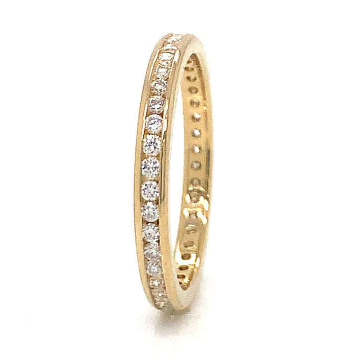 """Royal Yellow"" Diamond Eternity Band"